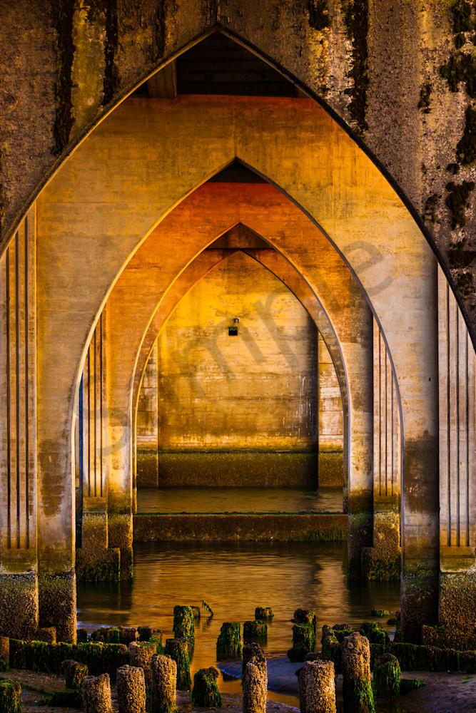 arches, bridge, sunset, Florence, river