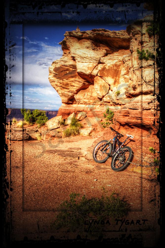 Lynda Tygart Bicycle on Rocks in Moab Utah at Sunset – Fine Art Photographs Prints on Canvas, Paper, Metal & More.