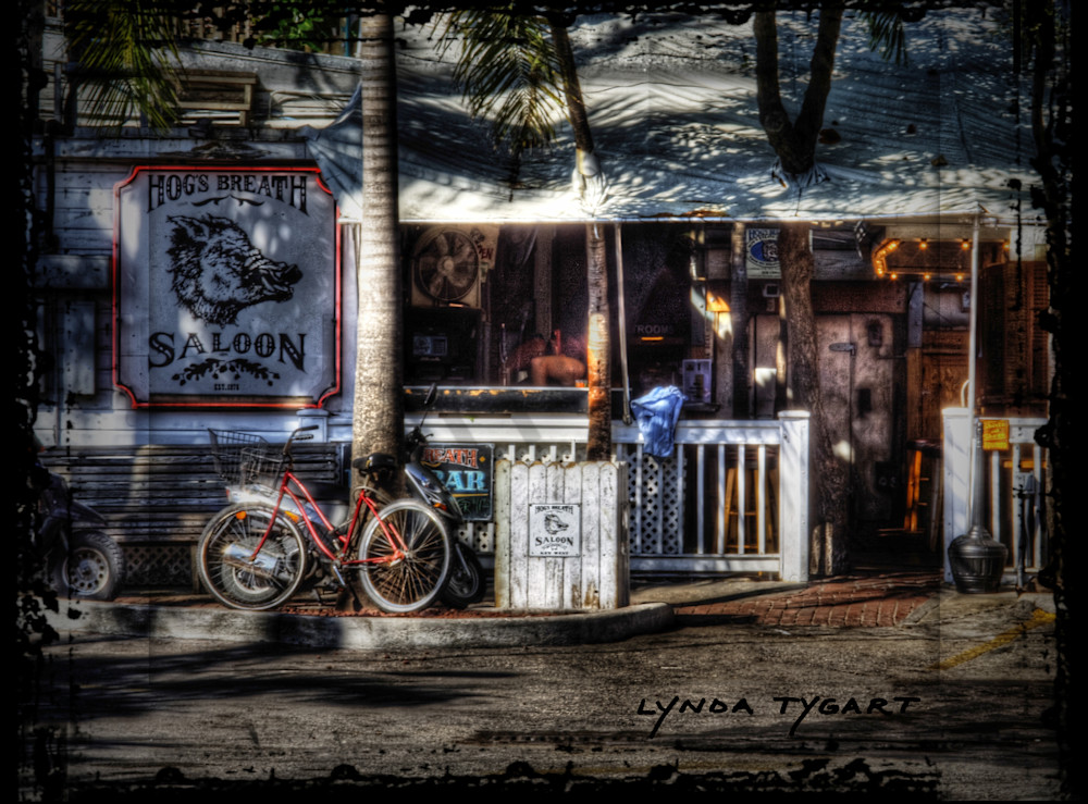 Lynda Tygart Bicycle at Hog's Breath in Key West Florida – Fine Art Photographs Prints on Canvas, Paper, Metal & More.
