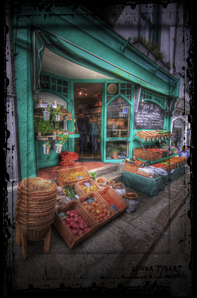 Lynda Tygart Produce Market Deli in England Great Britain Europe – Fine Art Photographs Prints on Canvas, Paper, Metal & More.