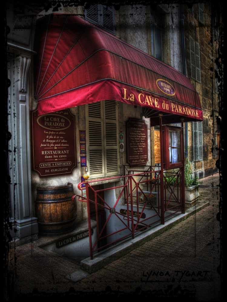 Lynda Tygart Cafe France La Cave Europe – Fine Art Photographs Prints on Canvas, Paper, Metal & More.