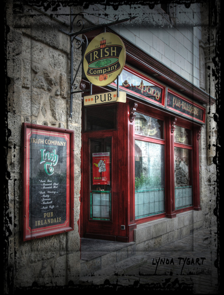 Lynda Tygart Cafe France Europe Irish Pub Restaurant – Fine Art Photographs Prints on Canvas, Paper, Metal & More.