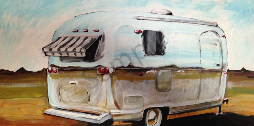 Airstream Travel Trailer art