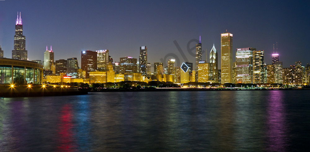 Chicago Pink Skyline