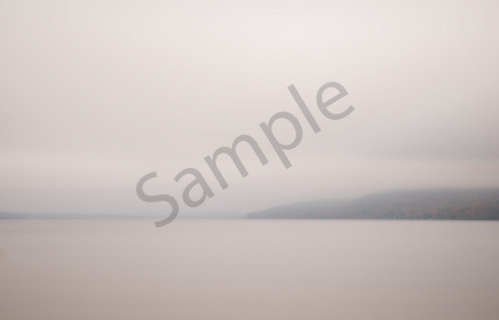 Photograph of Autumn Fog on a lake for sale as fine art.