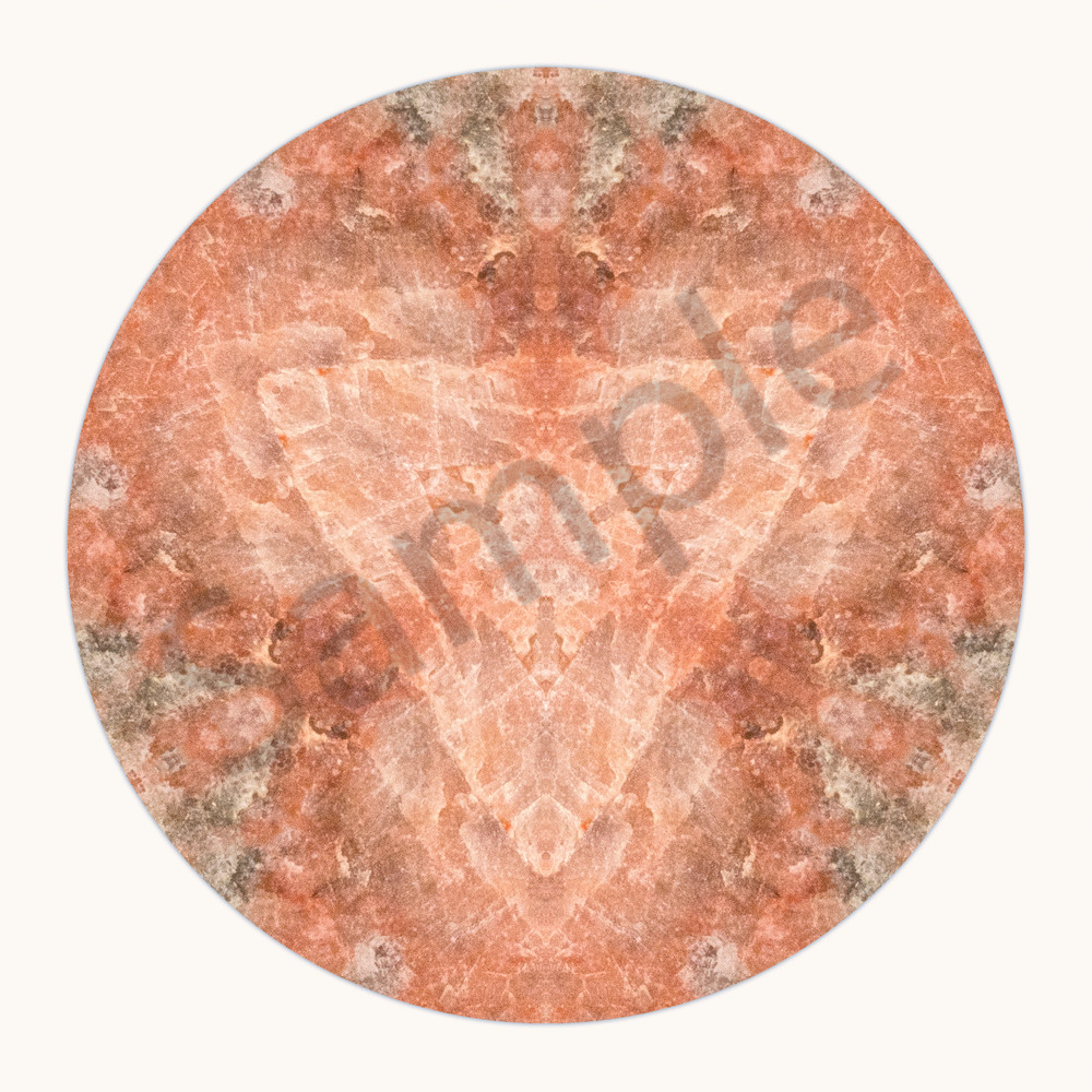 Rose Quartz for sale as fine art photographic mandala.