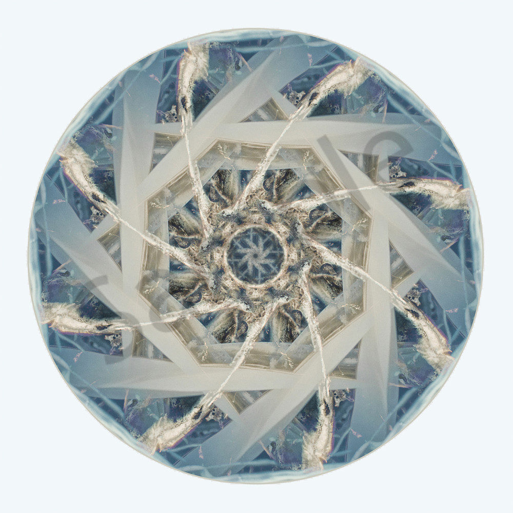 Twisted Ice for sale as fine art photographic mandala.