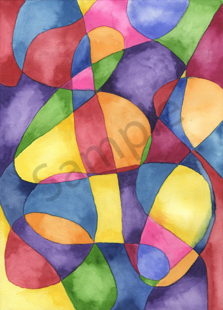 Abstract art by Gayela's Premiere Watercolor Main Store