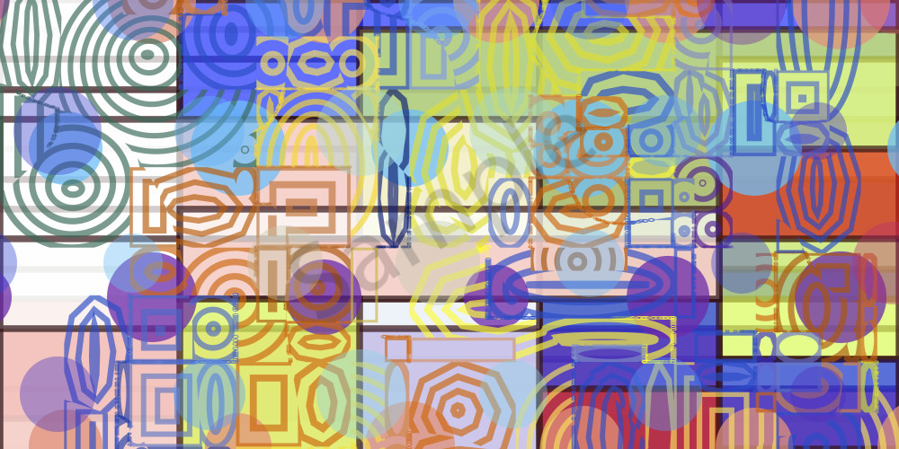 Geo Sliced, algorithmic wall at by Peter McClard