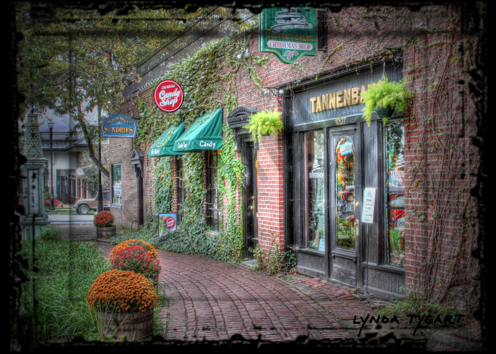 Lynda Tygart Candy Shop Tannenbaum Old Market Omaha Nebraska – Fine Art Photographs Prints on Canvas, Paper, Metal and More.