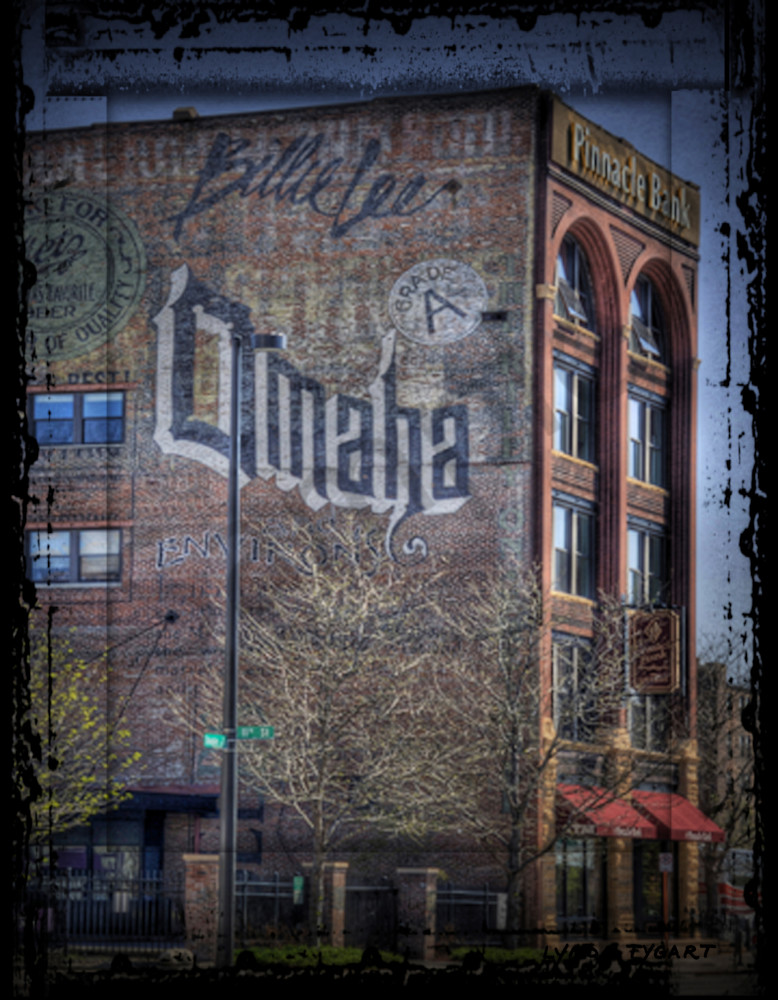 Lynda Tygart Omaha Building Pinnacle Bank Old Market Omaha Nebraska – Fine Art Photographs Prints on Canvas, Paper, Metal and More.