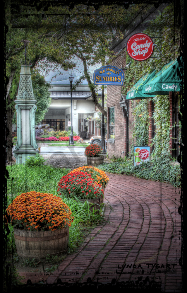 Lynda Tygart Candy Shop Old Market Omaha Nebraska – Fine Art Photographs Prints on Canvas, Paper, Metal and More.