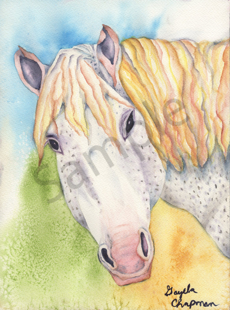 """Bronci"" horse art by Gayela's Premiere Watercolors|Main Store"