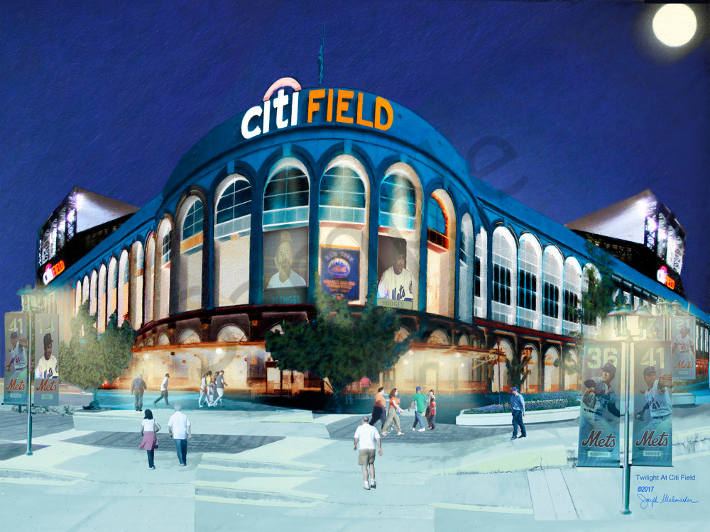 Citi Field At Night - The Gallery Wrap Store