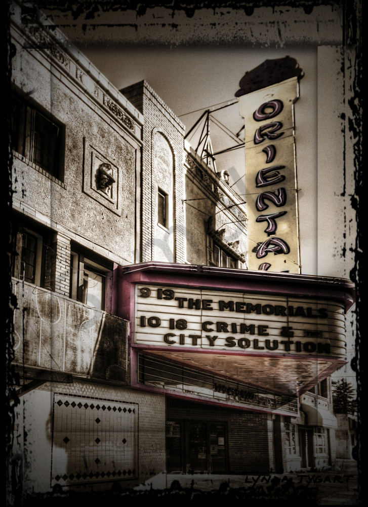 Lynda Tygart Fine Art Photographs Prints of the Oriental Theater in Denver Colorado in Tennyson Berkeley Neighborhood on Canvas, Paper, Metal & More.