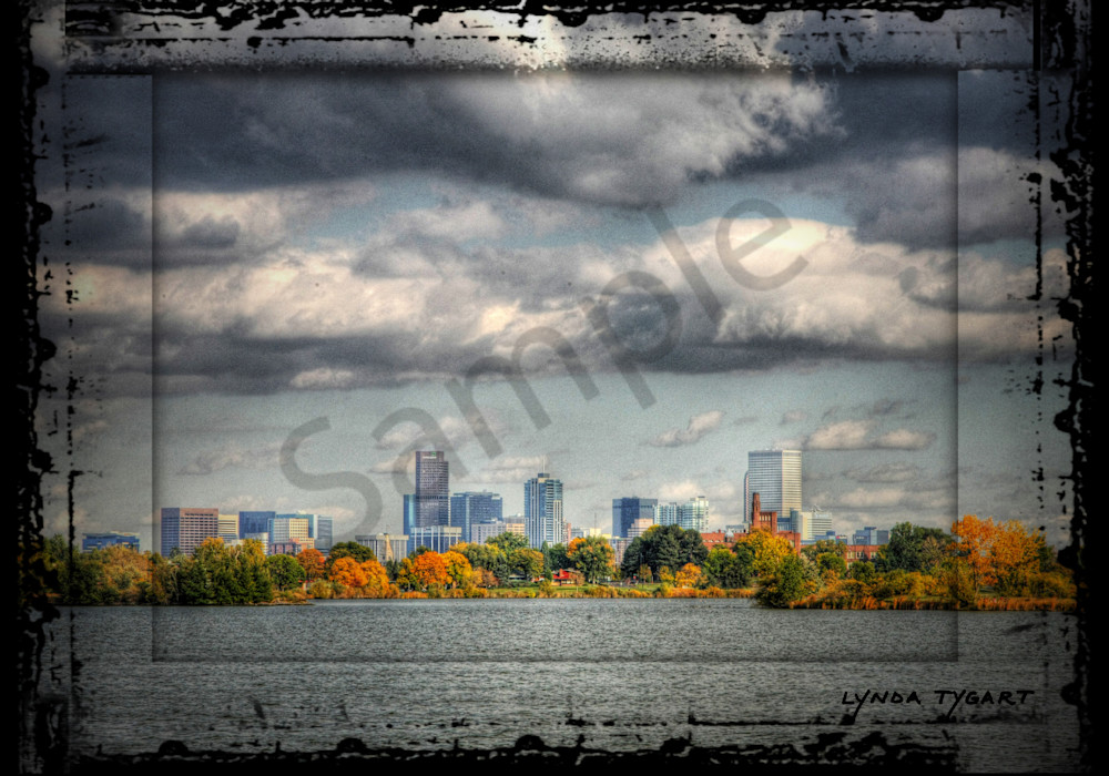 Lynda Tygart Fine Art Photographs Prints of the Denver Skyline  in Denver Colorado in Sloan's Lake Neighborhood on Canvas, Paper, Metal & More.