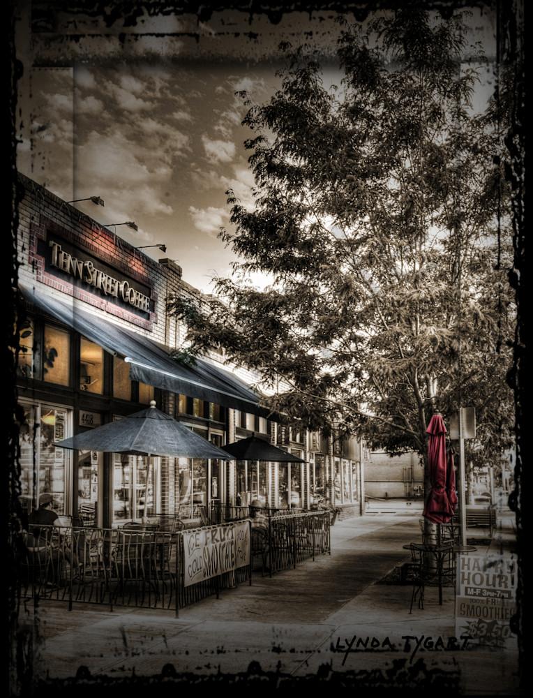 Lynda Tygart Fine Art Photographs Prints of Tenn Street Coffee in Denver Colorado in Tennyson Berkeley Neighborhood on Canvas, Paper, Metal & More.