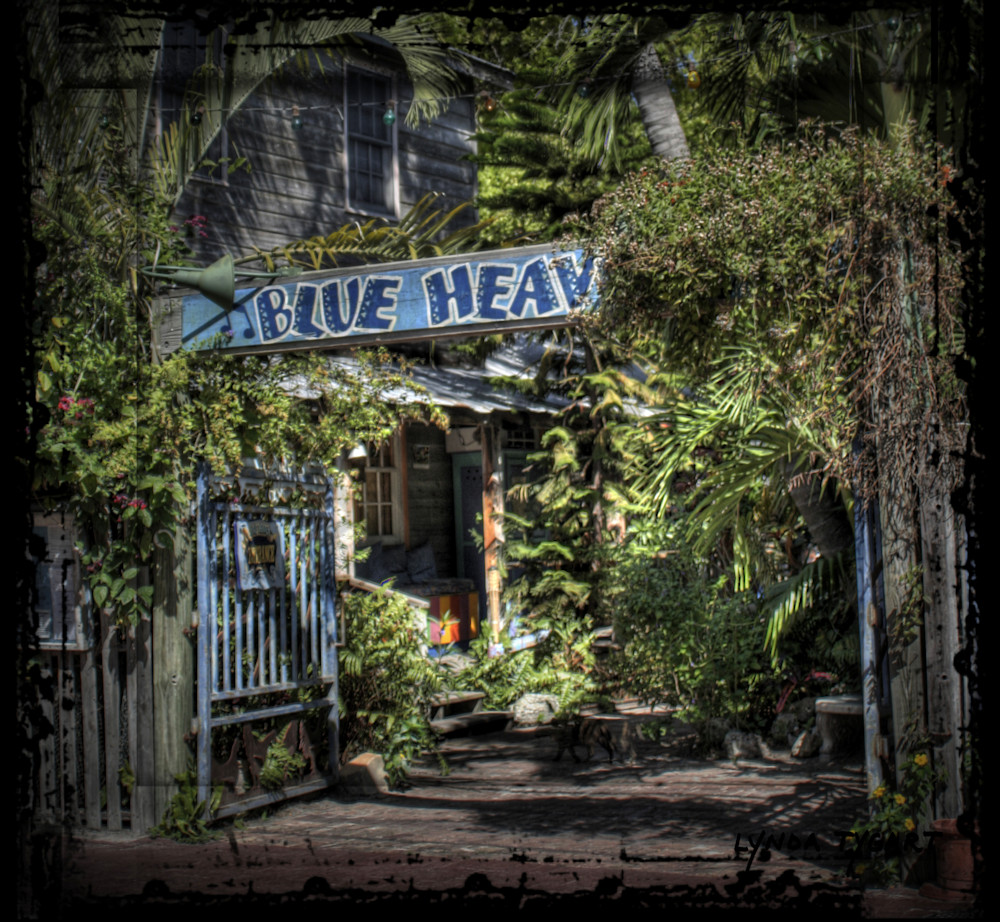 Lynda Tygart Key West Florida Blue Heaven Cafe Restaurant – Fine Art Photographs Prints on Canvas, Paper, Metal & More.