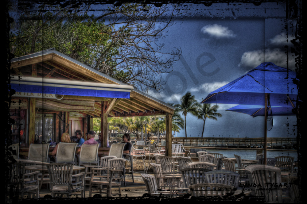 Lynda Tygart Louie's Backyard Bar Restaurant in Key West Florida – Fine Art Photographs Prints on Canvas, Paper, Metal & More.