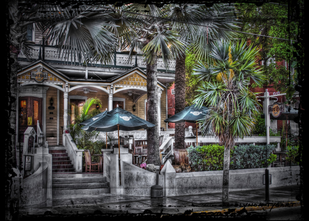 Lynda Tygart Hard Rock Cafe Restaurant Bar in Key West Florida on Duval Street– Fine Art Photographs Prints on Canvas, Paper, Metal & More.