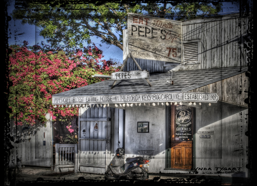 Lynda Tygart Pepe's Cafe Restaurant in Key West Florida – Fine Art Photographs Prints on Canvas, Paper, Metal & More.
