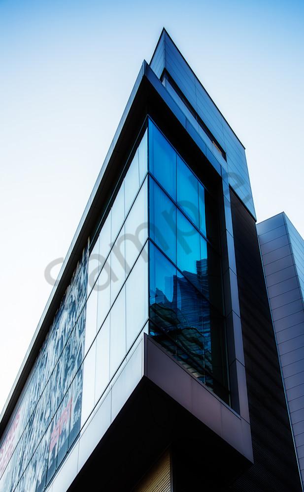 Geometric I (Blue Angular Building)