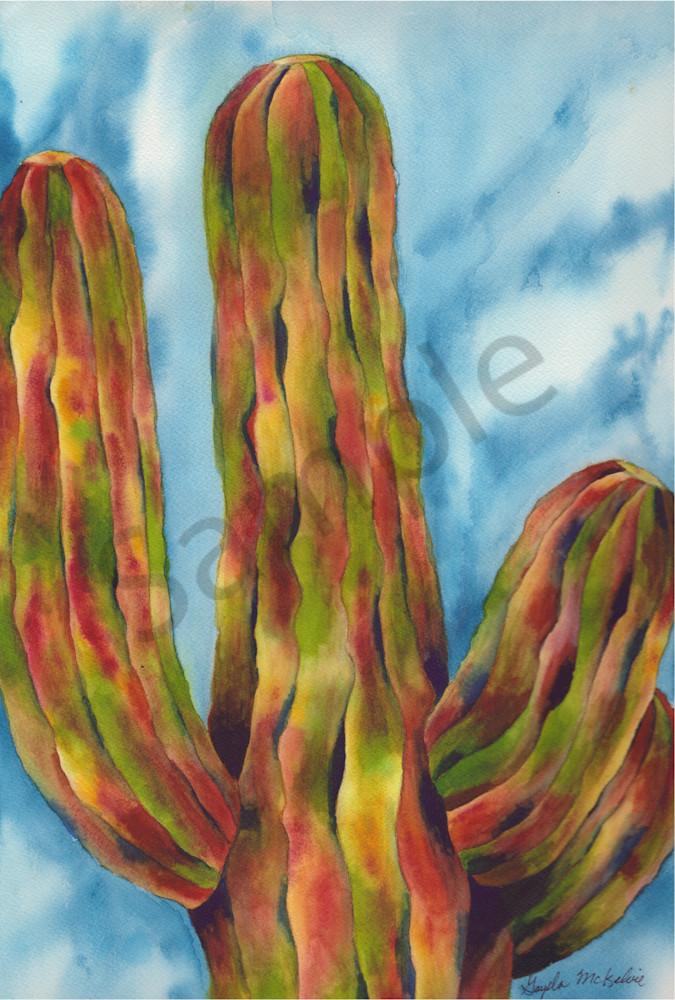 Saguaro Cactus art by Gayela's Premiere Watercolors|Main Store