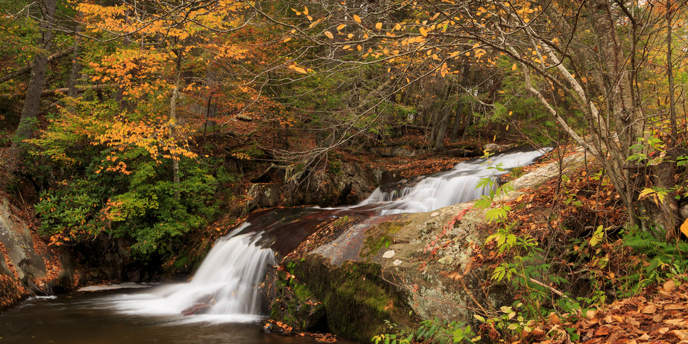 Waterfall Wall Art: Statons Creek Falls in Autumn
