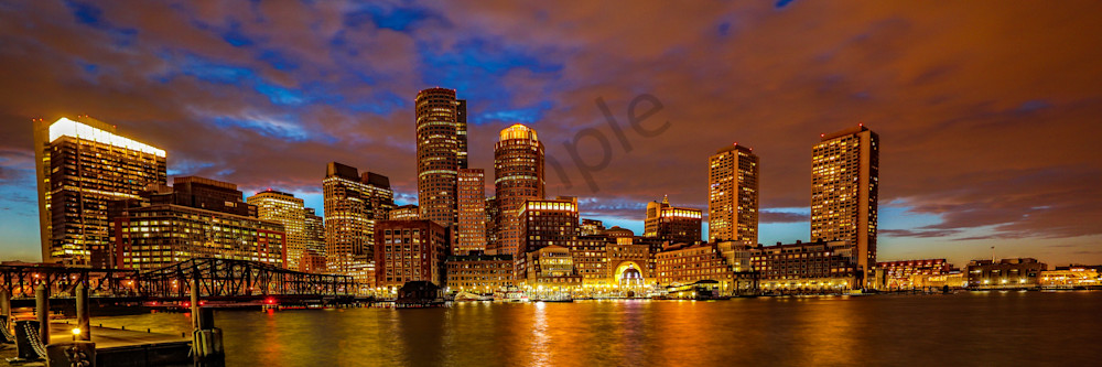 Boston Skyline 5 Photography Art | John Martell Photography