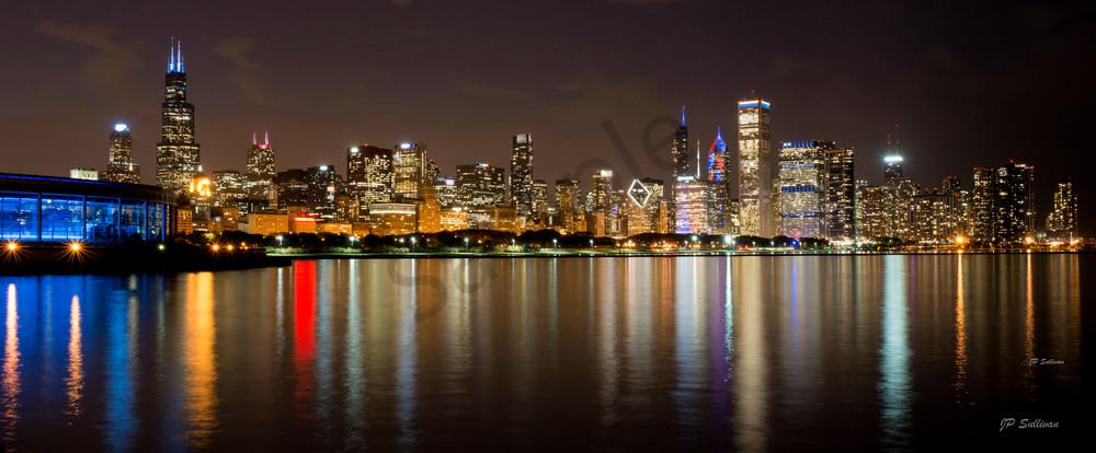 Chicago City Lake Panoramic Photography Art | JP Sullivan Photography, Inc.