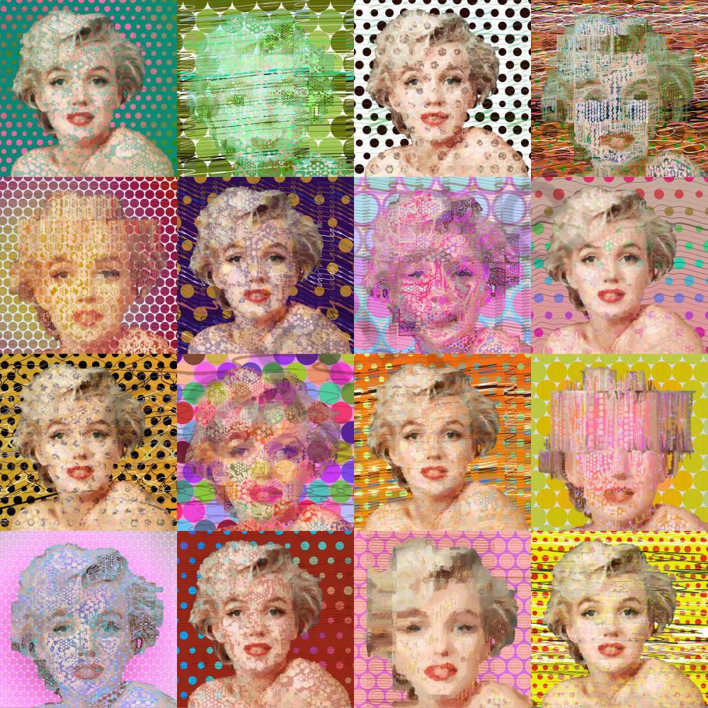 Marilyn Monroe, Marilyn Monroe art by Peter McClard at VectorArtLabs.com
