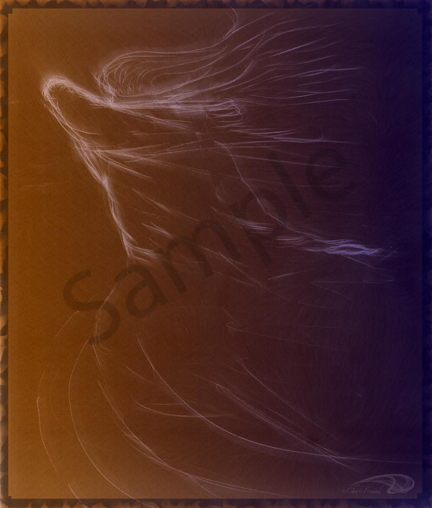 The Storm woman wind-blown digital art by Cheri Freund