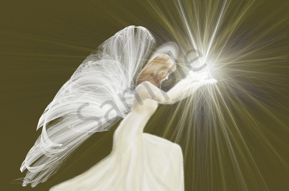 Kneeling Angel v2 digital art by Cheri Freund