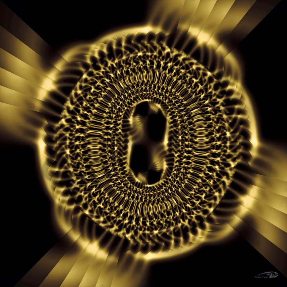LinkedIn abstract gold metal chain links digital art by Cheri Freund