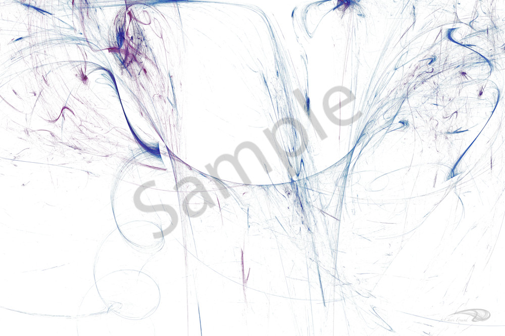 Optic Flow blue and purple liquid flowing digital art by Cheri Freund