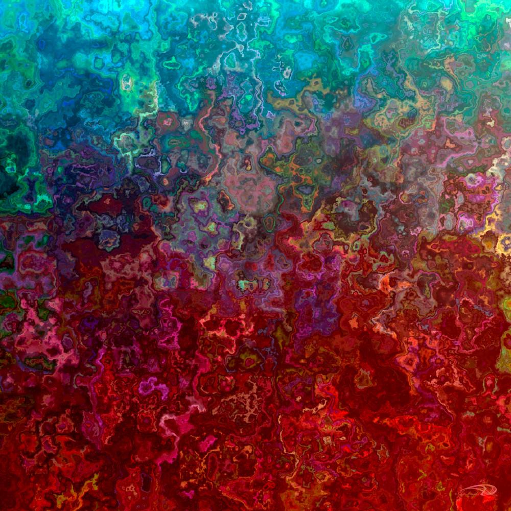 Funky Watercolor multi-colored digital art by Cheri Freund