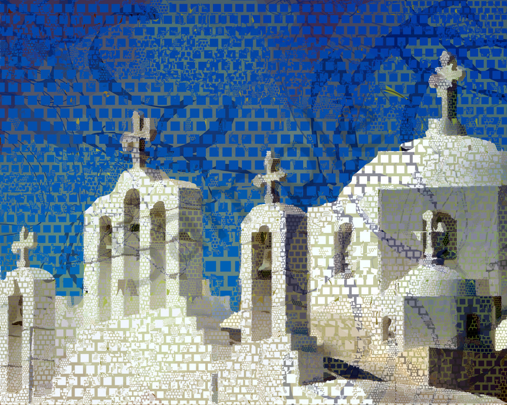 Cyclades Santorini art, architecture, prints by Peter McClard  at BrillianceGallery.com