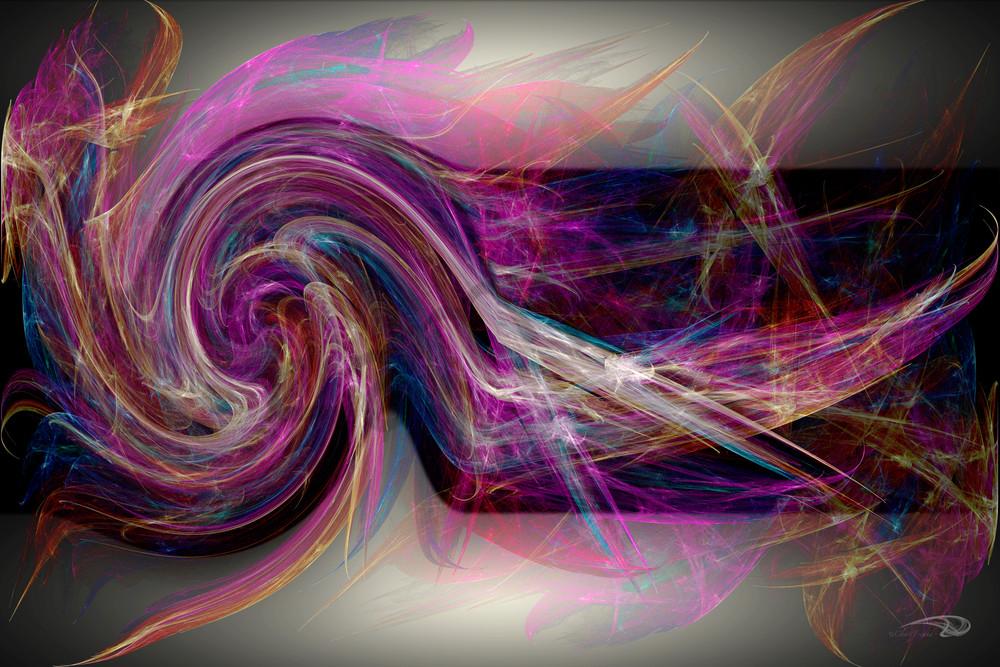 Twirling Scarves wind-blown digital art by Cheri Freund