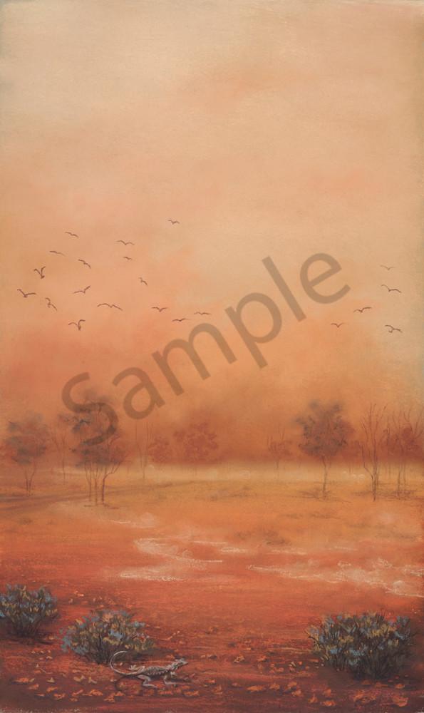 Bourke - A Vision Splendid, Orange by Jenny Greentree