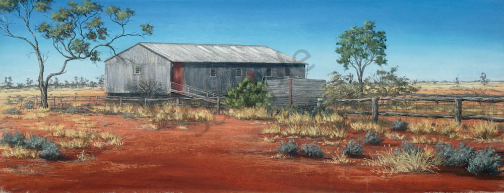 Pera Bore Woolshed by Jenny Greentree