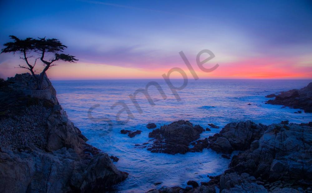 Golf - Pebble Beach Lone Cypress - fine art print - photography
