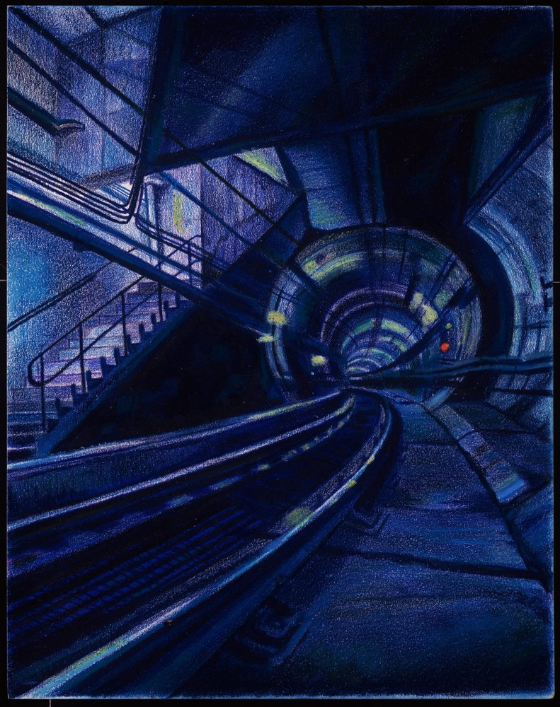 A FUTURISTIC UNDERWORLD SUBWAY