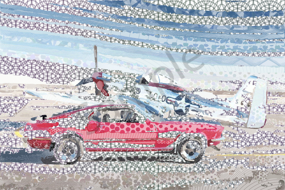 Mustang art, artwork, photographs, prints, canvas by algorithmic artist Peter McClard for sale. BrillianceGallery.com