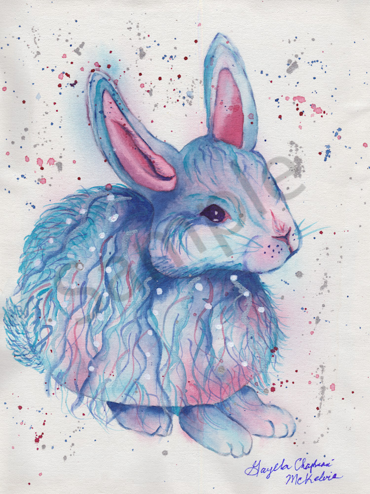 Blue Bunny art by Gayela's Premiere Watercolors|Main Store