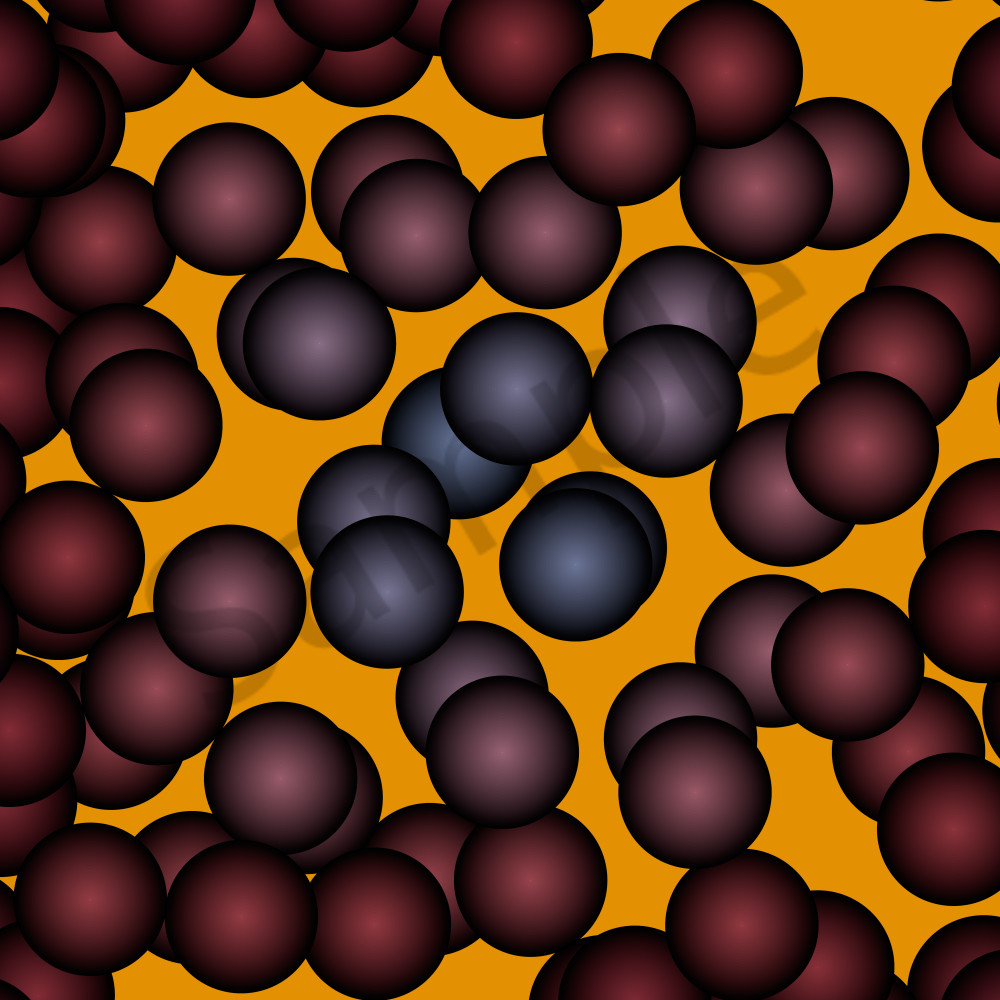 'Molecules' Abstract, algorithmic Wall Art, paintings & photographs as originals & Prints  by Peter McClard.