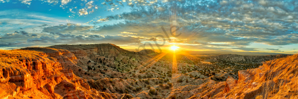 Rio Puerco Sunset Panorama Photograph Wall Art