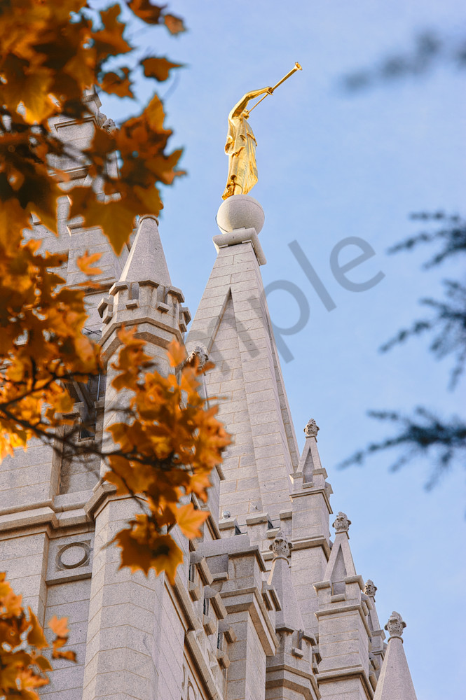 Moroni - Salt Lake Temple Photograph