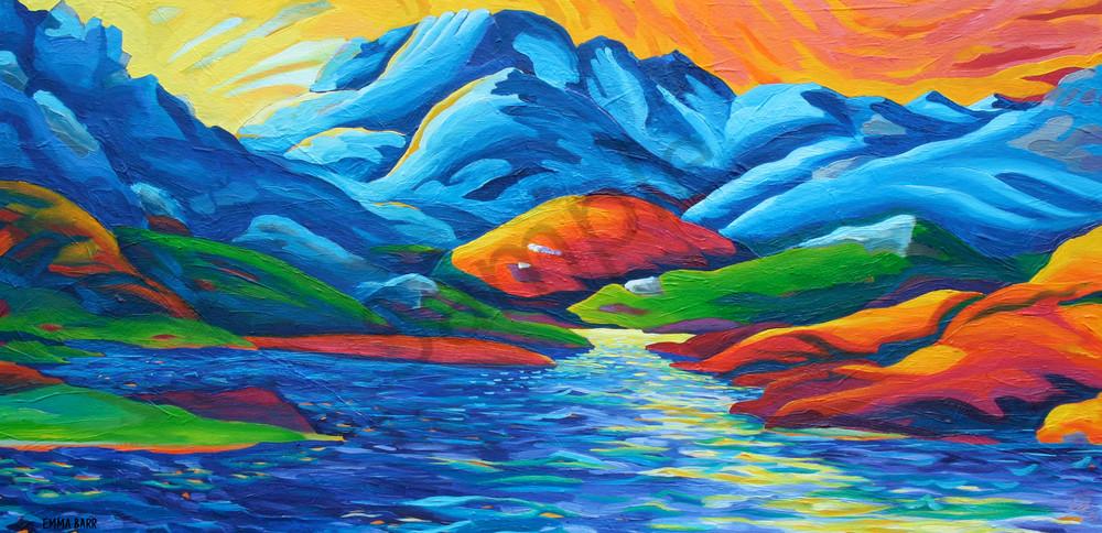 Firesky Sunset | Deluxe Canvas Print | Emma Barr Fine Art