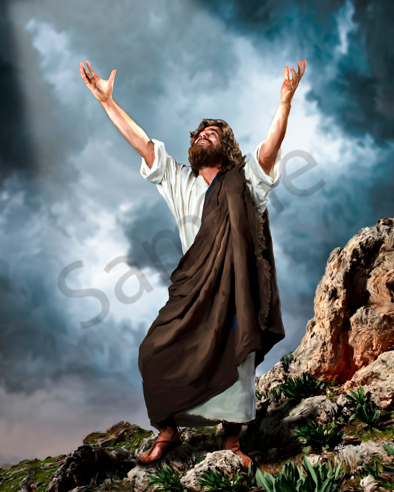Jesus offers praise