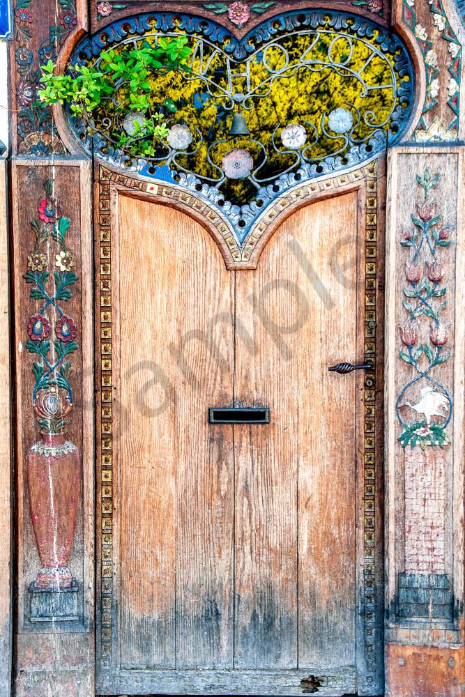 Paris heart door, photograph art print